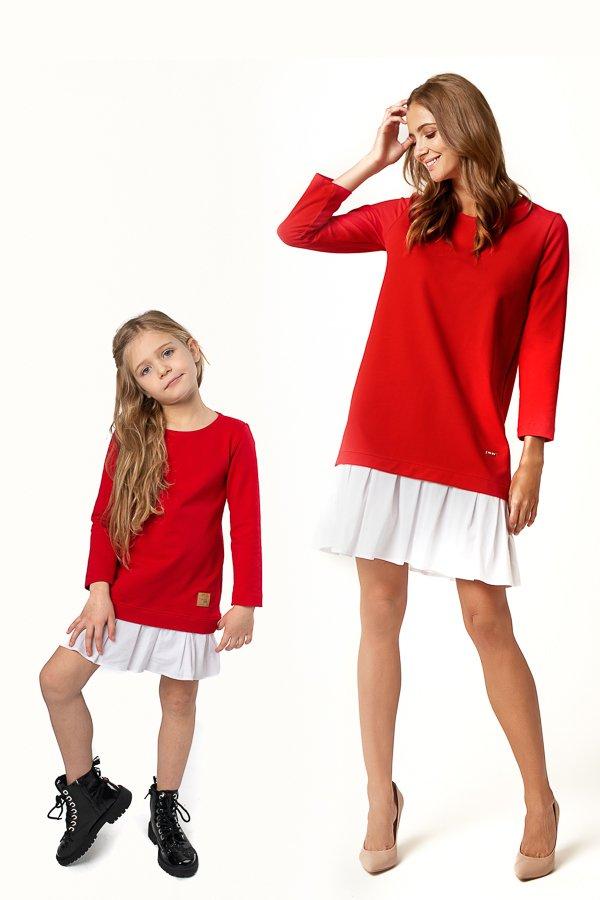 b492e8716ee0 Pleta-Pletené šaty s volánom červené • Papi.sk
